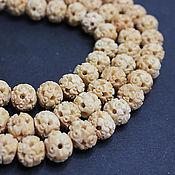 Материалы для творчества handmade. Livemaster - original item Beads Carved Buffalo Bone Ball 12h10mm. Handmade.