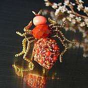 Винтаж ручной работы. Ярмарка Мастеров - ручная работа Joan Rivers брошь паук с кристаллами. Handmade.