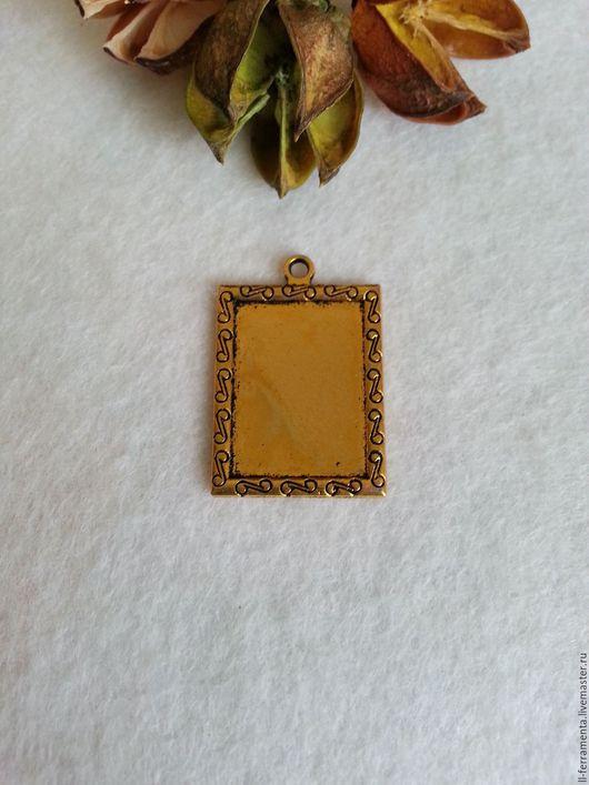 Для украшений ручной работы. Ярмарка Мастеров - ручная работа. Купить Рамка для кабошона античное золото. Handmade. Золотой