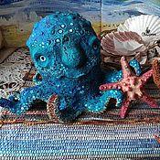 Куклы и игрушки ручной работы. Ярмарка Мастеров - ручная работа Осьминог Добрюша. Handmade.