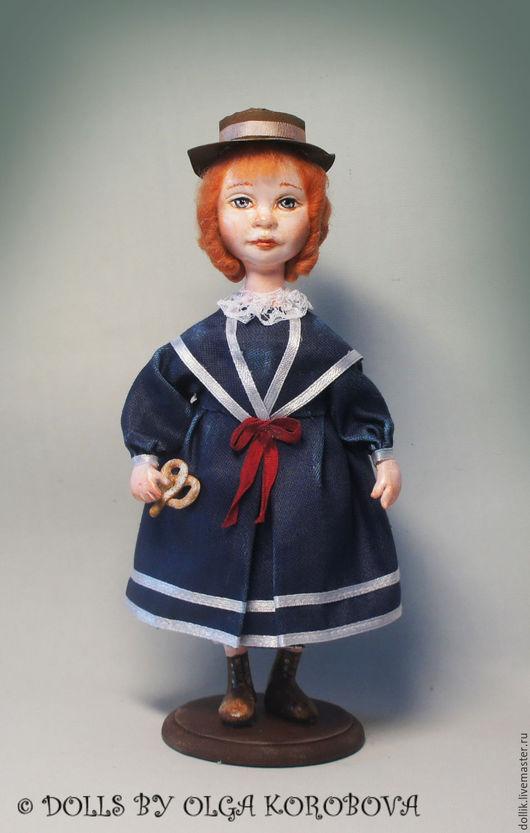 Коллекционные куклы ручной работы. Ярмарка Мастеров - ручная работа. Купить Мари. Handmade. Тёмно-синий, авторская ручная работа