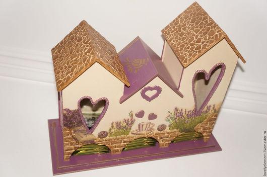 """Кухня ручной работы. Ярмарка Мастеров - ручная работа. Купить Чайный домик тройной """"Луговая Любовь """". Handmade. Бежевый"""