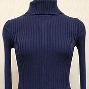 Одежда ручной работы. Ярмарка Мастеров - ручная работа Водолазка синего цвета. Handmade.