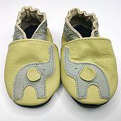 Работы для детей, handmade. Livemaster - original item Green Baby shoes, Leather Moccasins,Elephant Grey, Handmade Spippers. Handmade.