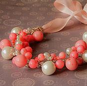 Украшения handmade. Livemaster - original item Ruddy necklace with corals. Handmade.