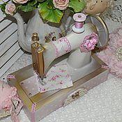 """Для дома и интерьера ручной работы. Ярмарка Мастеров - ручная работа Швейная машинка """"Shabby chic"""". Handmade."""