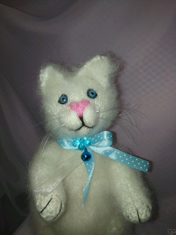 Вязаный котик Сахарок, Мягкие игрушки, Дмитров,  Фото №1
