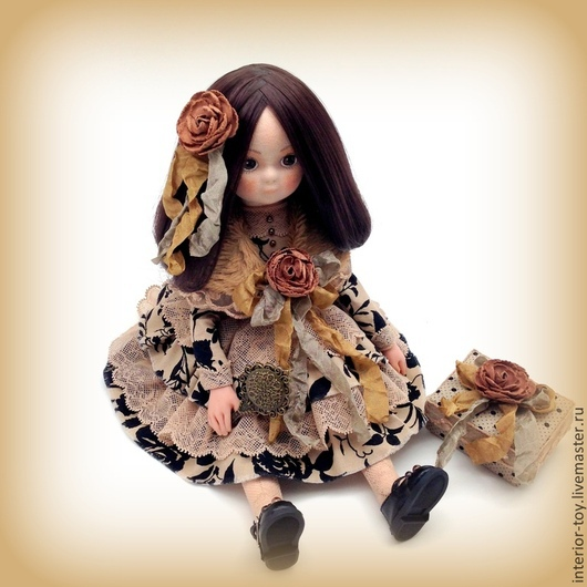 Кукла текстильная коллекционная - Сашенька. `Лавка Чудес` Анастасия. Ярмарка Мастеров.