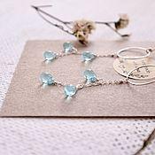 Украшения handmade. Livemaster - original item Silver earrings with blue drops. Handmade.