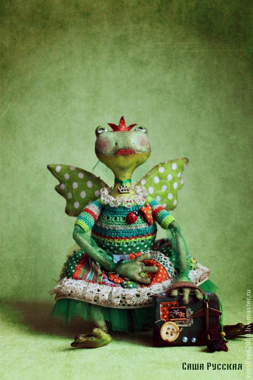 Сказочные персонажи ручной работы. Ярмарка Мастеров - ручная работа. Купить Лягушка по имени Жо-жо. Handmade. Болотный, фурнитура