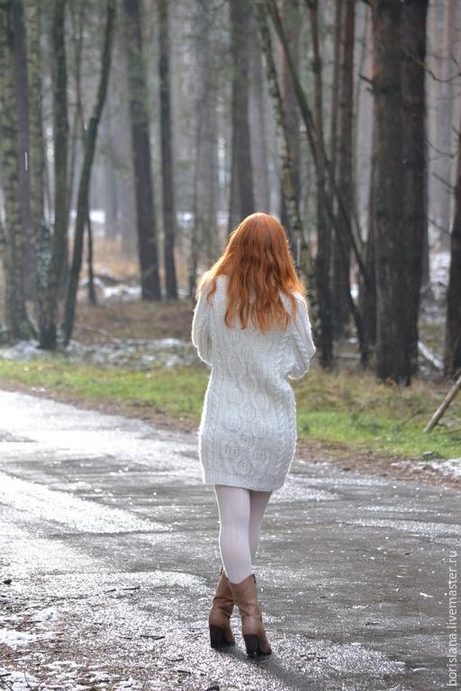 Джемпер длинный женский