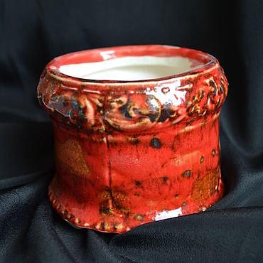 Flowers and floristry handmade. Livemaster - original item Pot for cactus and succulents. Handmade.