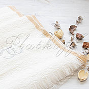 Аксессуары handmade. Livemaster - original item Knitted Italian white scarf made of Chanel fabric. Handmade.