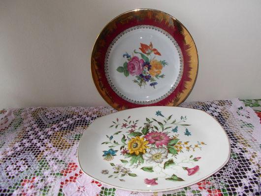 Винтажная посуда. Ярмарка Мастеров - ручная работа. Купить Две тарелки винтаж,Италия. Handmade. Комбинированный, винтажные тарелки, посуда