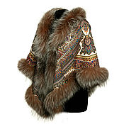 Аксессуары handmade. Livemaster - original item Shawl with Fox fur. Handmade.