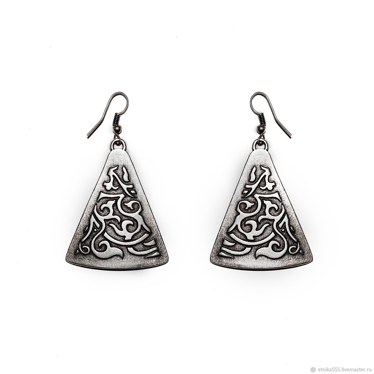 Earrings Handmade Livemaster Flavia Triangular In Byzantine Style