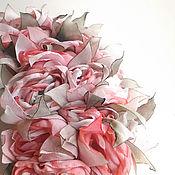 Украшения handmade. Livemaster - original item Brooch bouquet. Large brooch with the colors of the fabrics.. Handmade.