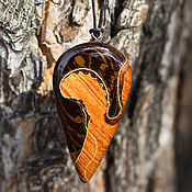 Украшения handmade. Livemaster - original item Pendant made of two types of wood. Handmade.