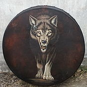 Музыкальные инструменты handmade. Livemaster - original item wolf. Diamonds leather deep 60 cm. Handmade.