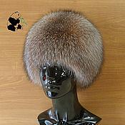 Аксессуары handmade. Livemaster - original item fur hat women`s knitted lining fox fur moth df-32. Handmade.