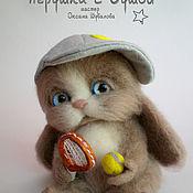 Куклы и игрушки ручной работы. Ярмарка Мастеров - ручная работа Зайчик-озорник, повтор, валяная игрушка. Handmade.