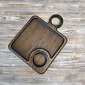 Посуда handmade. Livemaster - original item Small Dark Feed Board. Handmade.