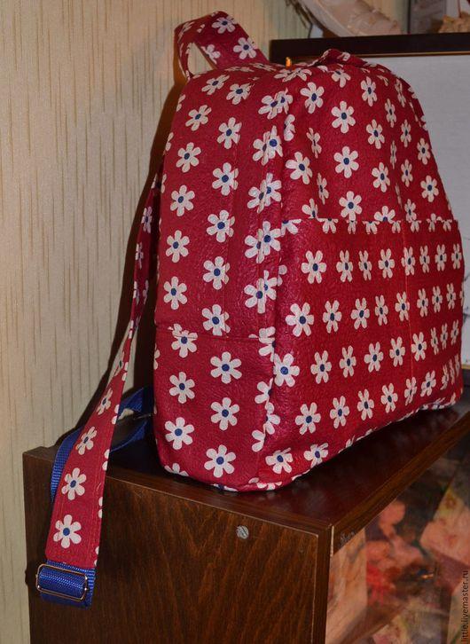 Рюкзаки ручной работы. Ярмарка Мастеров - ручная работа. Купить Рюкзак Летнее настроение. Handmade. Комбинированный, ткань ссср, ромашки