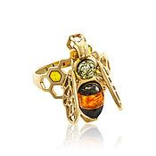 Украшения handmade. Livemaster - original item Silver ring, with amber. Handmade.