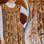 """Одежда ручной работы. Ярмарка Мастеров - ручная работа Накидка """"Душевная"""" в технике ФриФорм. Handmade."""