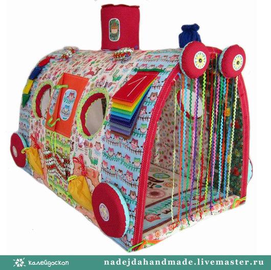 """Развивающие игрушки ручной работы. Ярмарка Мастеров - ручная работа. Купить Развивающая игрушка Чудо-Поезд """"Лесные друзья"""". Handmade."""