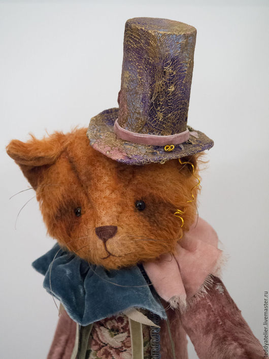 Мишки Тедди ручной работы. Ярмарка Мастеров - ручная работа. Купить Кот в цилиндре. Handmade. Рыжий, подарок к Новому году