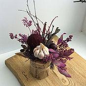 Композиции ручной работы. Ярмарка Мастеров - ручная работа Стим-панк (композиция из сухоцветов). Handmade.