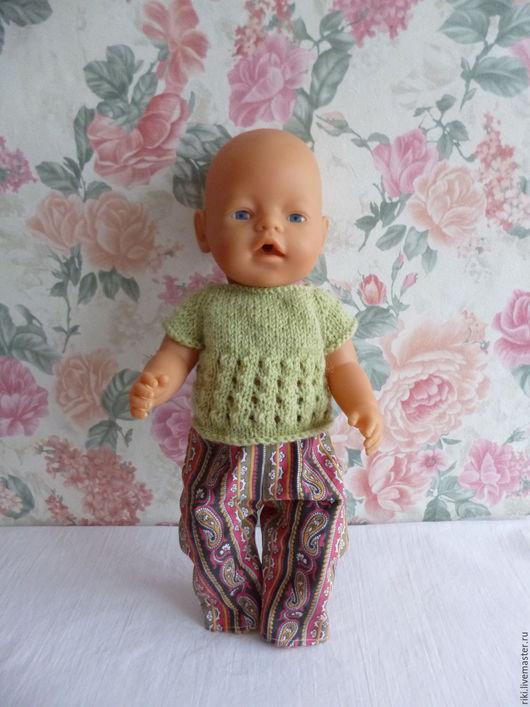 Одежда для кукол ручной работы. Ярмарка Мастеров - ручная работа. Купить Комплект для куклы-пупса Беби Бона  (брючки, кофточка) 1. Handmade.