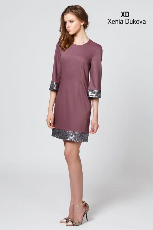 Платья ручной работы. Ярмарка Мастеров - ручная работа. Купить Платье с пайетками. Handmade. Бледно-сиреневый, платье вечернее платье