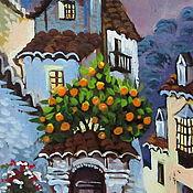 Картины и панно ручной работы. Ярмарка Мастеров - ручная работа Дом с апельсиновым деревом. Handmade.