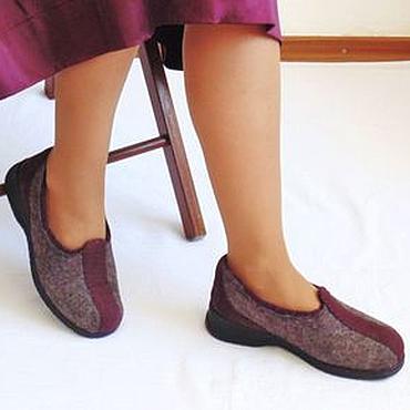 Обувь ручной работы. Ярмарка Мастеров - ручная работа Войлочные туфли для дома и офиса.. Handmade.
