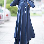 Одежда handmade. Livemaster - original item Polyviscose long sleeve dress - DR0112PV. Handmade.
