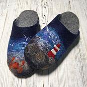 Обувь ручной работы handmade. Livemaster - original item Felted Slippers for men