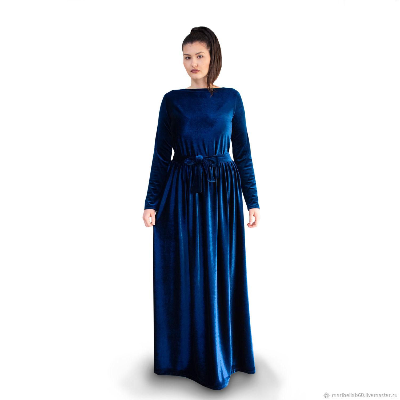 Long velvet dress Fashionable dress-VELVET FAIRY, Dresses, Sofia,  Фото №1
