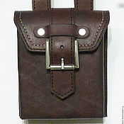 Сумки и аксессуары handmade. Livemaster - original item Pouch dark brown mens. Handmade.