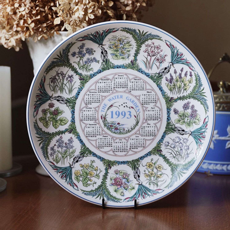 Wedgwood plate calendar 1993, England, Vintage interior, Moscow,  Фото №1