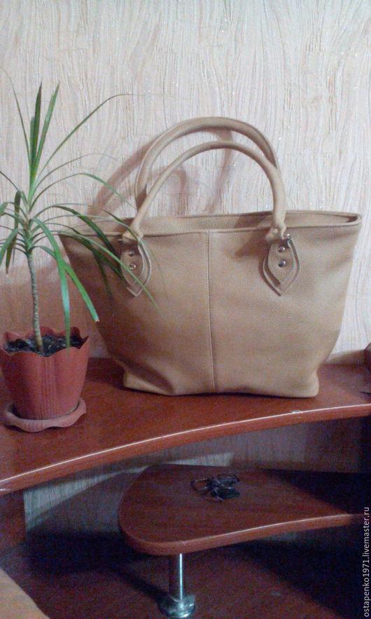 Женские сумки ручной работы. Ярмарка Мастеров - ручная работа. Купить Модель 44, женская сумка. Handmade. Бежевый