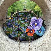 Классическая сумка ручной работы. Ярмарка Мастеров - ручная работа Валяная сумка Viola. Handmade.