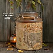 """Для дома и интерьера ручной работы. Ярмарка Мастеров - ручная работа Бидон """"Тёплая осень"""". Handmade."""