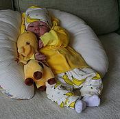 """Работы для детей, ручной работы. Ярмарка Мастеров - ручная работа Комплект """"Sunny banana"""".. Handmade."""