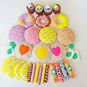 Куклы и игрушки handmade. Livemaster - original item Sweets for tea from felt. Handmade.
