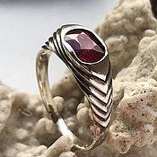 Украшения handmade. Livemaster - original item Ring with natural raw ruby 1,23 ct silver handmade. Handmade.