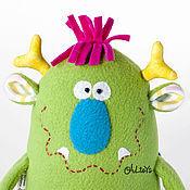 Куклы и игрушки ручной работы. Ярмарка Мастеров - ручная работа Монстрик зеленый. Handmade.