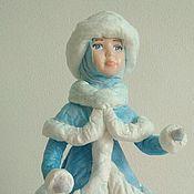 Куклы и игрушки ручной работы. Ярмарка Мастеров - ручная работа Снегурочка. Ватная игрушка под ёлку.. Handmade.