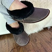 Обувь ручной работы handmade. Livemaster - original item Men`s chuni made of natural sheepskin (with a solid sole). Handmade.